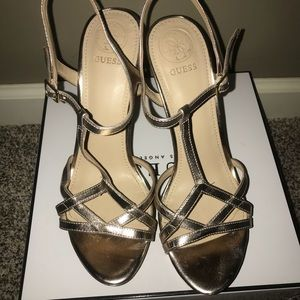 44257a71b0bbcf Guess Shoes - Guess Keiry Platform Sandals High Heels. Size 8